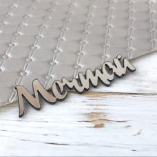 Надпись пластиковая Мечтай, 7 см. х 2 см., серебро