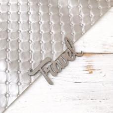 Надпись пластиковая Travel, 3,5 см. х 7 см., серебро