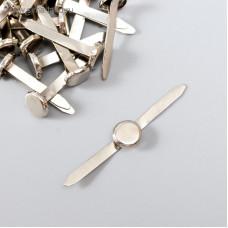 Брадсы длинные (0,7 см.), цвет серебро, 5 штук