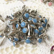 Брадсы эмалевые, цвет голубой, 5 шт.