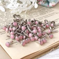 Брадсы эмалевые, цвет бледно-розовый, 5 шт.