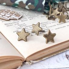 Брадсы - металлические, звёзды бронза, 1 шт.