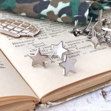 Брадсы - металлические, звёзды серебро, 1 шт.