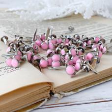 Брадсы эмалевые, цвет розовый, 5 шт.