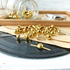 Брадсы большие (0,8 см.), цвет золотистый, 5 штук