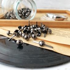 Брадсы большие (0,8 см.), цвет тёмное серебро, 5 штук