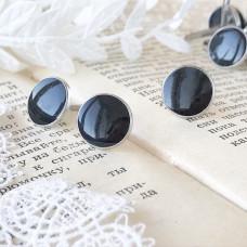 Брадсы эмалевые большие, цвет чёрный, 1 шт.