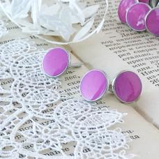 Брадсы эмалевые большие, цвет розовый, 1 шт.