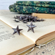 Заклёпка декоративная звезда, антик, 1,7 см.