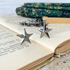 Заклёпка декоративная звезда, тёмное серебро, 2 см.
