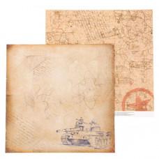"""Лист бумаги от АртУзор """"Письма с фронта"""", 30,5 х 30,5 см."""