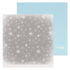 """Лист бумаги от АртУзор """"Снежинки"""", 30,5 х 30,5 см."""