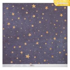 """Лист бумаги от АртУзор """"Сияние звёзд"""", 30,5 х 30,5 см. (29 см.)"""