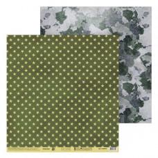 "Лист бумаги от АртУзор ""Армейские звёзды"", 30,5 х 30,5 см."