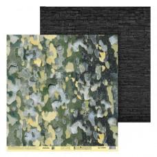 """Лист бумаги от АртУзор """"Природный камуфляж"""", 30,5 х 30,5 см."""