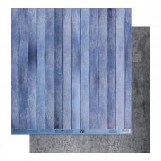 "Лист бумаги от АртУзор ""Голубые доски"", 30,5 х 30,5 см."