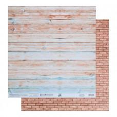 """Лист бумаги от АртУзор """"Домик на море"""", 30,5 х 30,5 см."""