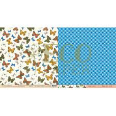 "Лист бумаги от EcoPaper ""Атлас бабочек"" Мотыльки, 30 х 30 см."