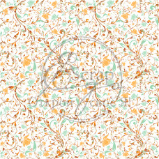 """Лист бумаги от ScrapEgo """"Тыквенное настроение"""" №4, 30 х 30 см."""