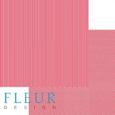 """Лист бумаги от Fleur Design """"Чисто и просто Базовая"""" Яркий красный, 30 х 30 см."""