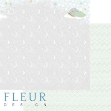 """Лист бумаги от Fleur Design """"В облаках"""" Звёздная ночь, 30 х 30 см."""