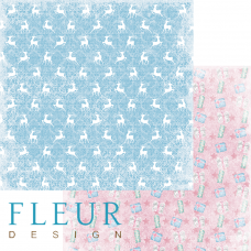 """Лист бумаги от Fleur Design """"Новогодняя сказка"""" Узоры, 30 х 30 см."""