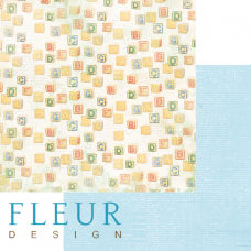 "Лист бумаги от Fleur Design ""Пупсики"" Кубики, 30 х 30 см."
