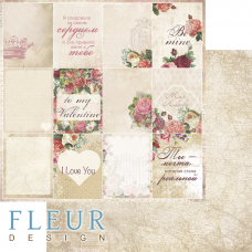 "Лист бумаги от Fleur Design ""Be mine"" Карточки, 30 х 30 см."