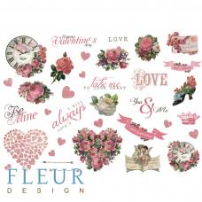 """Лист бумаги от Fleur Design """"Be mine"""" лист для вырезания, 20 х 30 см."""