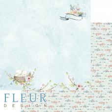 """Лист бумаги от Fleur Design """"Нежный возраст"""" Моя семья, 30 х 30 см."""