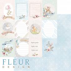 """Лист бумаги от Fleur Design """"Нежный возраст"""" Малыши, 30 х 30 см."""