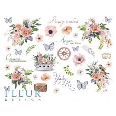 """Лист бумаги от Fleur Design """"Очарование"""" лист для вырезания, 20 х 30 см."""