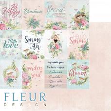 """Лист бумаги от Fleur Design """"Дыхание весны"""" Карточки, 30 х 30 см."""