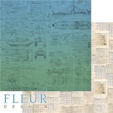 """Лист бумаги от Fleur Design """"Храбрые сердца"""" Записи, 30 х 30 см."""