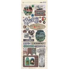 """Набор чипборда от Fleur Design """"Храбрые сердца"""" (703), 35 элементов"""