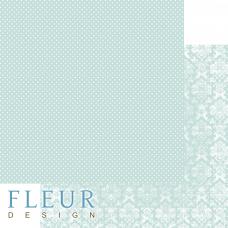 """Лист бумаги от Fleur Design """"Шебби Шик Базовая 2.0"""" Сочный мятный, 30 х 30 см."""