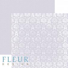 """Лист бумаги от Fleur Design """"Шебби Шик Базовая 2.0"""" Светлый черничный, 30 х 30 см."""