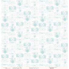 Лист односторонней бумаги 30x30 см. от Каралики Supergirl (арт.078)