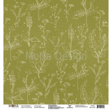"""Лист бумаги 30x30 см. от Mona Design Разноцветье """"Межсезонье"""""""