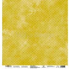 """Лист бумаги 30x30 см. от Mona Design Зелёные горошинки """"Межсезонье"""""""