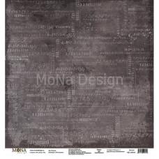 """Лист бумаги 30x30 см. от Mona Design К доске """"Учат в школе"""""""