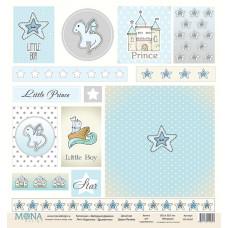 Карточки для вырезания 30x30 см. от Mona Design Звёздный дракон