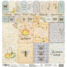 Карточки для вырезания 30x30 см. от Mona Design Осенняя история