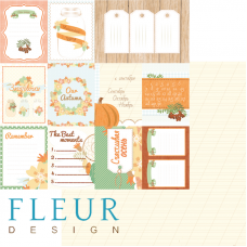 """Лист бумаги от Fleur Design """"Дыхание осени"""" Карточки 30,5 х 30,5 см."""