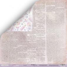 Лист двусторонней бумаги 30x30 см. от Scrapmir Daddy's Princess Газета