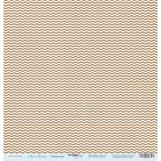 Лист односторонней бумаги 30x30 см. от Scrapmir Наш Малыш Шеврончик