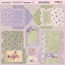 Лист двусторонней бумаги 20x20 см. от Scrapmir Delicious Recipes Конверты