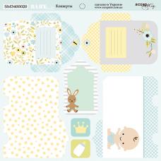 Лист двусторонней бумаги 20x20 см. от Scrapmir Smile Baby Конверты