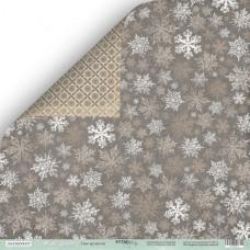 Лист двусторонней бумаги 30x30 см. от Scrapmir Nordic Spirits Снег кружится