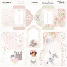 Лист двусторонней бумаги 20x20 см. от Scrapmir Beautiful Moments Конверты